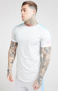 Inset Fade Tech Tee Ice Grey Tri Fade