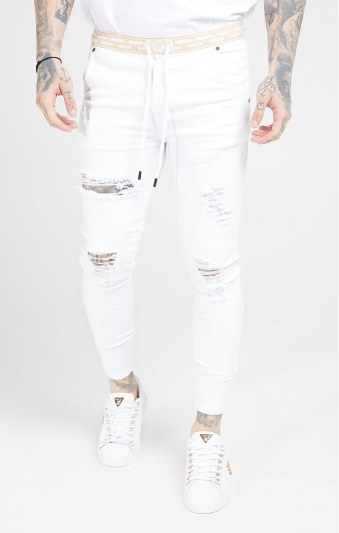 Skinny Distressed Jeans White