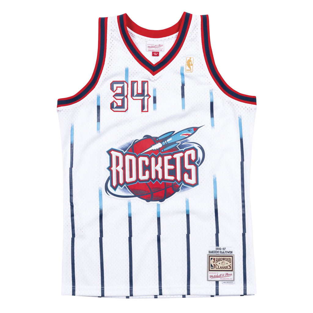 NBA Swingman Jersey ROCKETS 96-97 OLAJUWON 34 (WHITE)