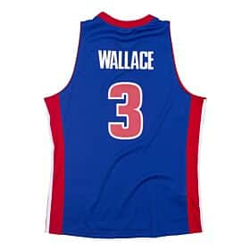 PISTONS B WALLACE 3 Road 03-04 Swingman Jersey (Royal)