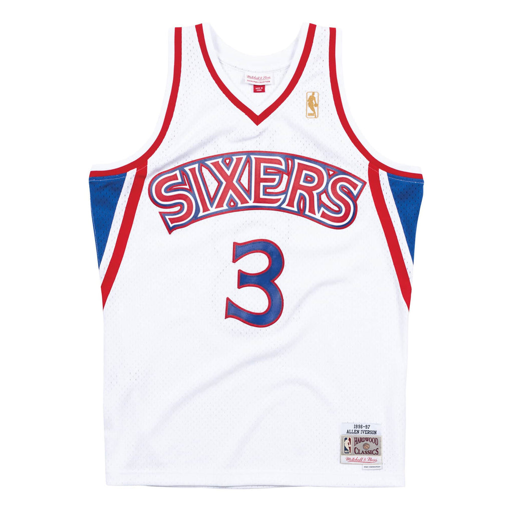 76ERS IVERSON 3 HOME 96-97 Swingman Jersey (WHITE)