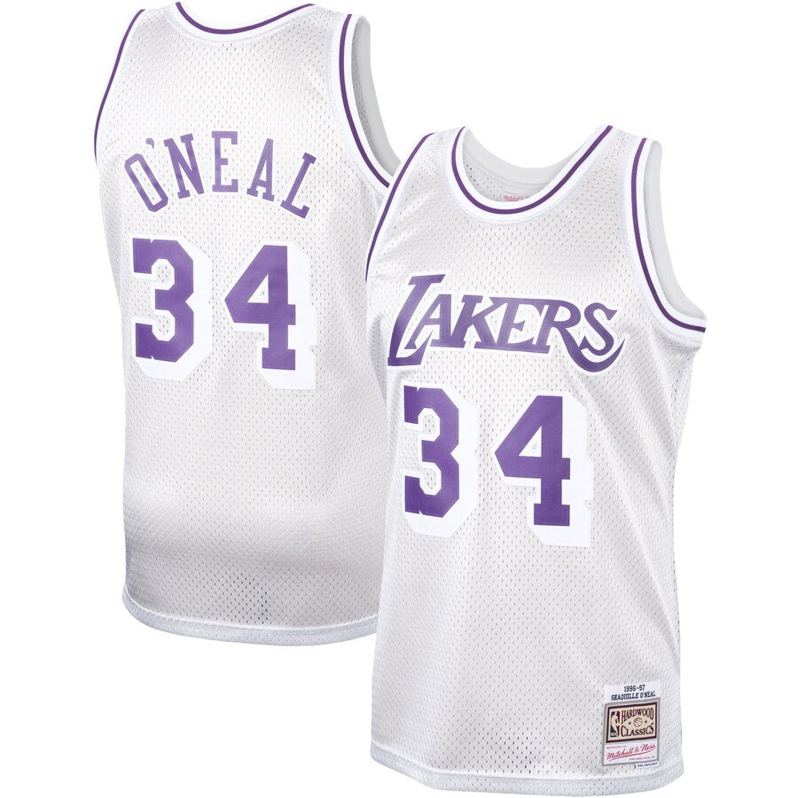 Platinum Swingman Jersey LAKERS SHAQ 34 96-97 (SILVER)