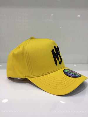 NS Yellow Black Logo Standard Fit Aframe Snapback