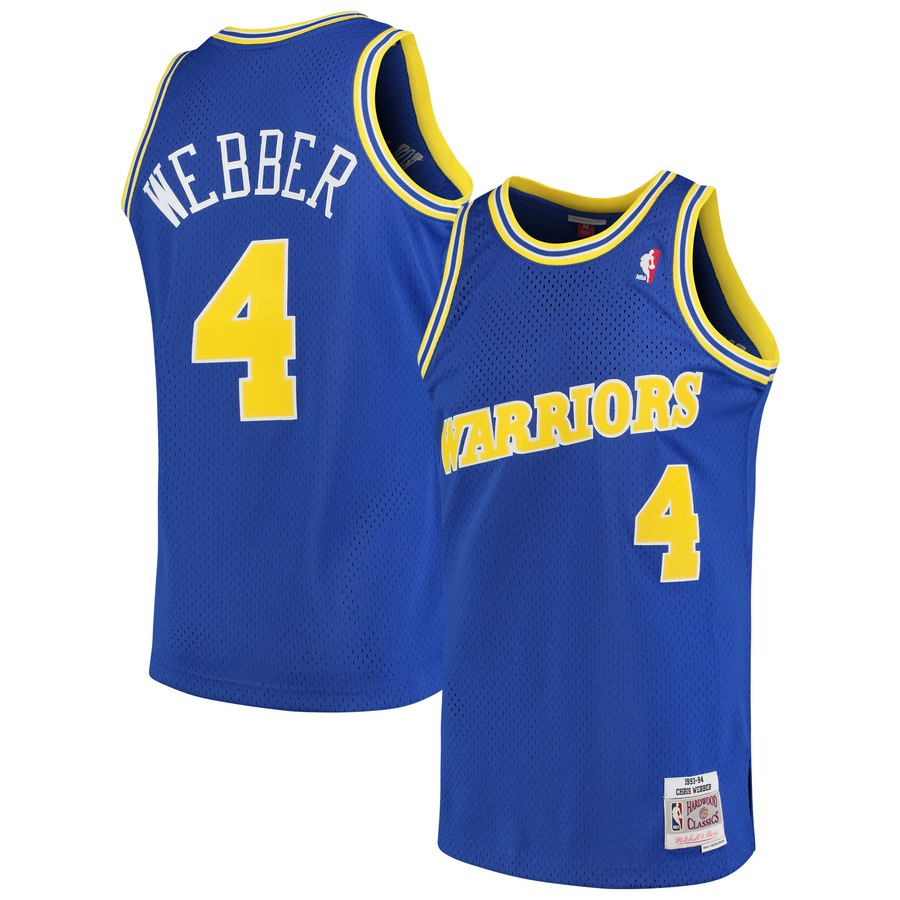 Warriors WEBBER 4 road 93-94 swingman jersey