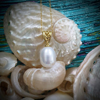 Cultured Freshwater Pearl Heart Pendant