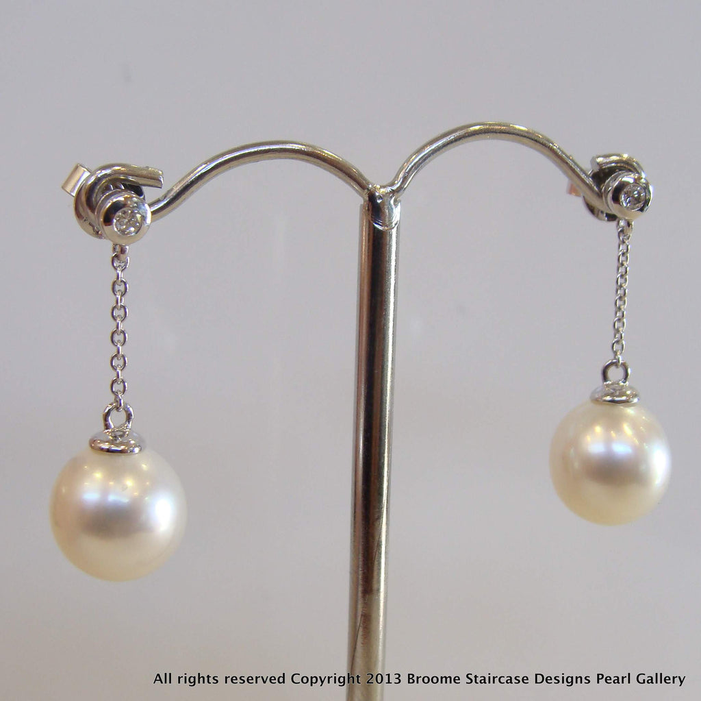 18ct Broome Pearl Stud Earrings - Broome Staircase Designs Pearl Gallery