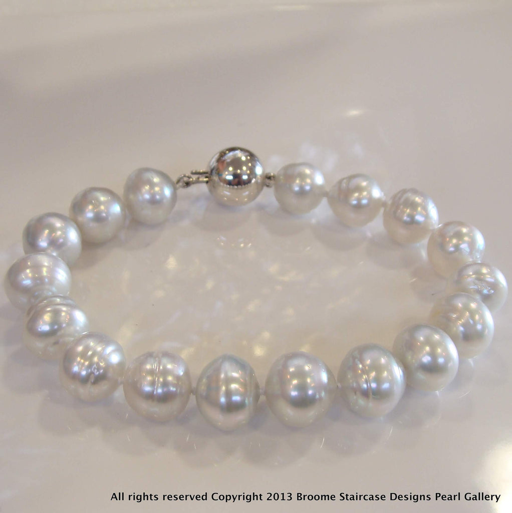 South Sea Pearl Bracelet 925 Clasp - Broome Staircase Designs Pearl Gallery