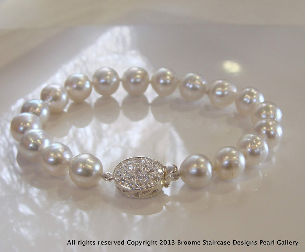 South Sea Pearl Bracelet Pearl Clasp - Broome Staircase Designs Pearl Gallery