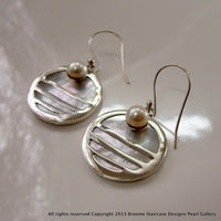 Staircase and Mother of Pearl Earrings