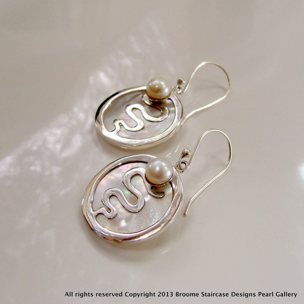 Lovely Staircase and Mother of Pearl Earrings - now at 50% Off! - Broome Staircase Designs Pearl Gallery
