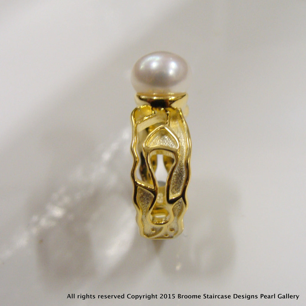 Freshwater Pearl Rings - Broome Staircase Designs Pearl Gallery - 1