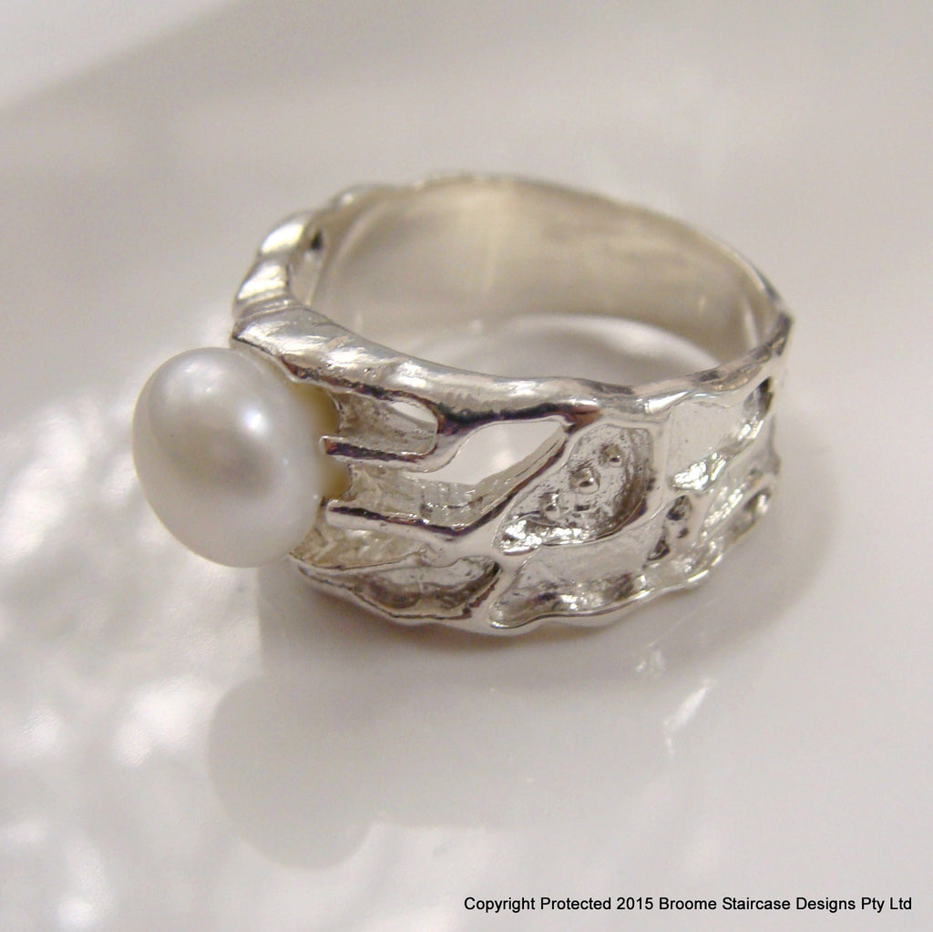 Freshwater Pearl Ring 925 - Broome Staircase Designs Pearl Gallery - 3