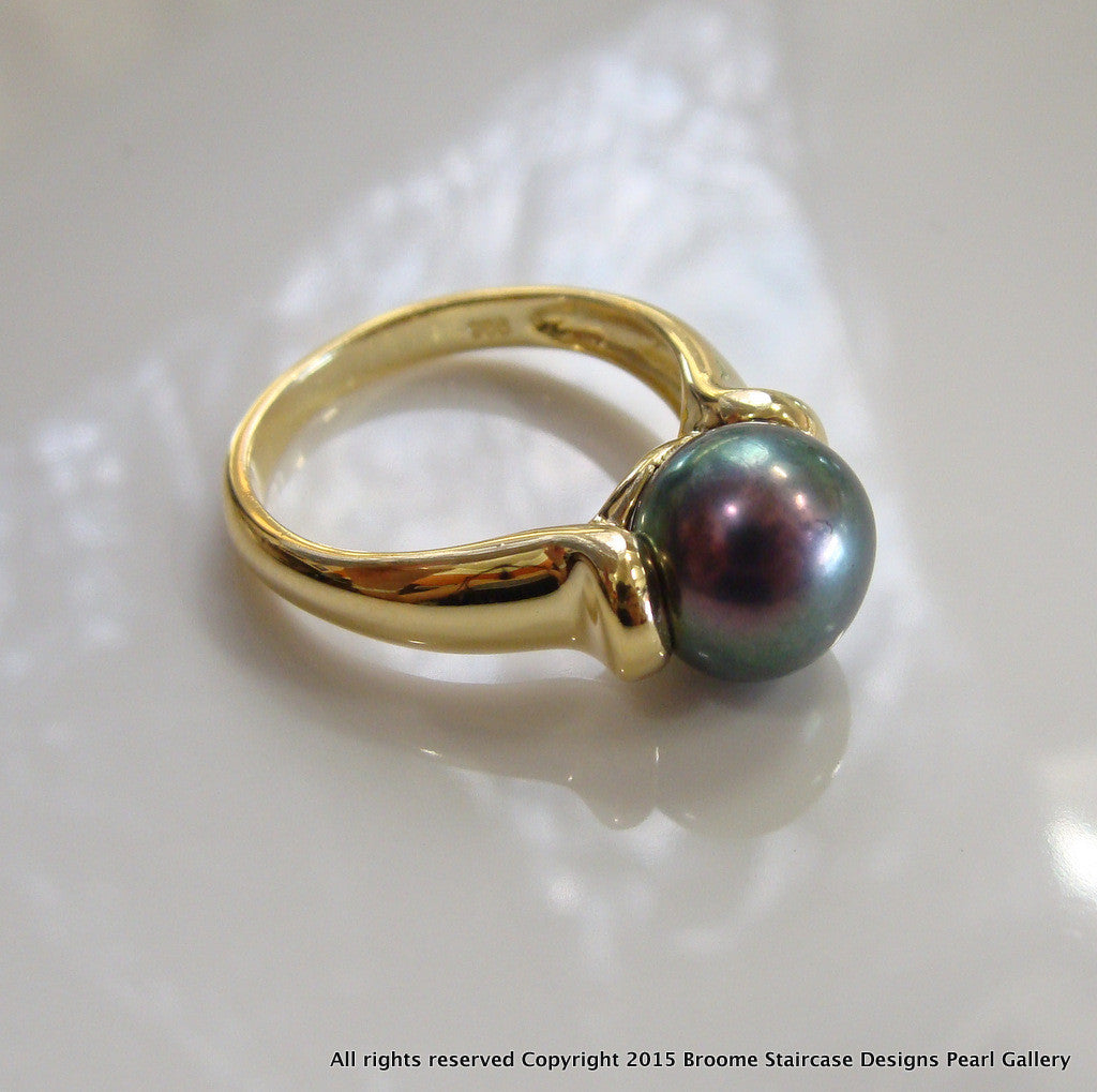 Black Freshwater Pearl Rings e/p - Broome Staircase Designs Pearl Gallery - 1