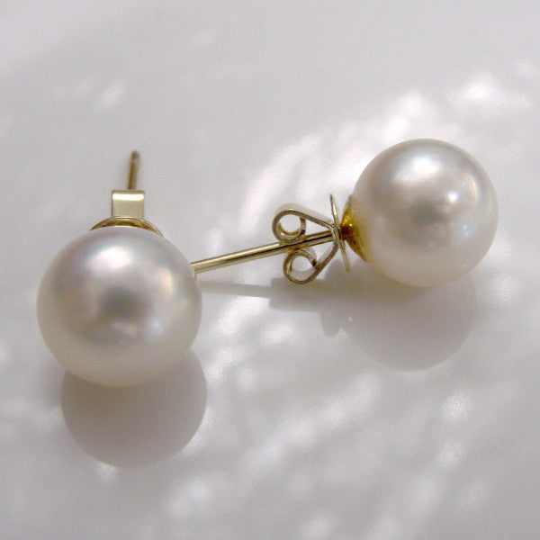 Broome Pearl Earrings Studs 9ct Round - Broome Staircase Designs Pearl Gallery - 1