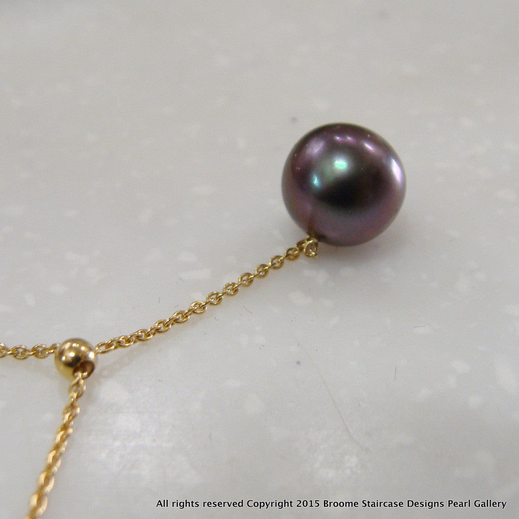 Tahitian Pearl Necklace 18ct Chain