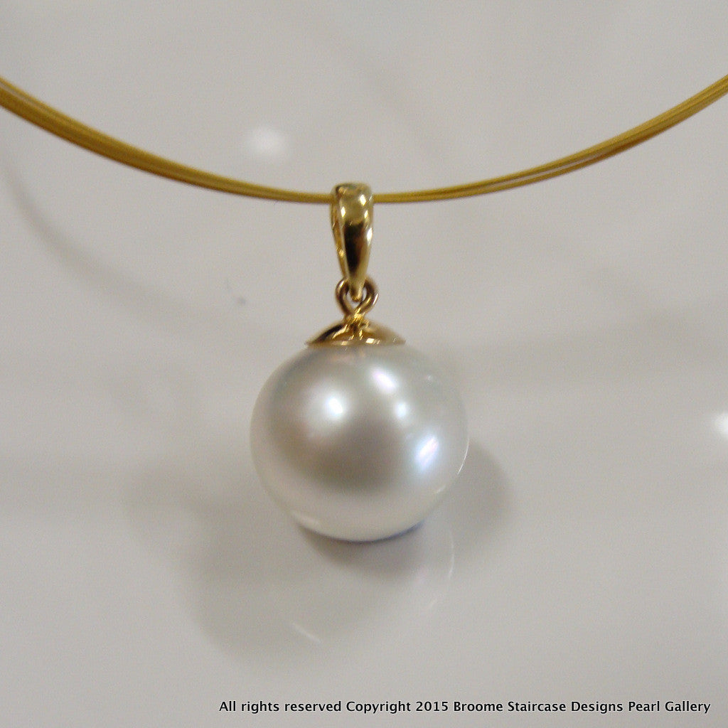 Broome pearl pendant 9ct yellow gold mozeypictures Choice Image