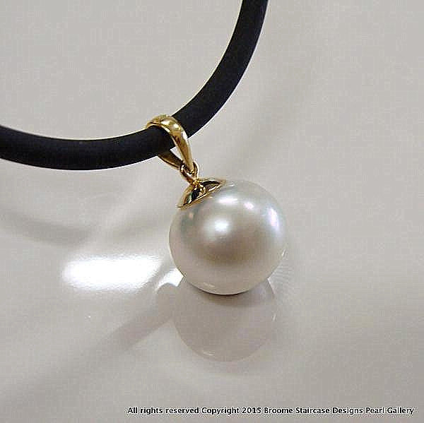 Broome Pearl Pendant 9ct Yellow Gold