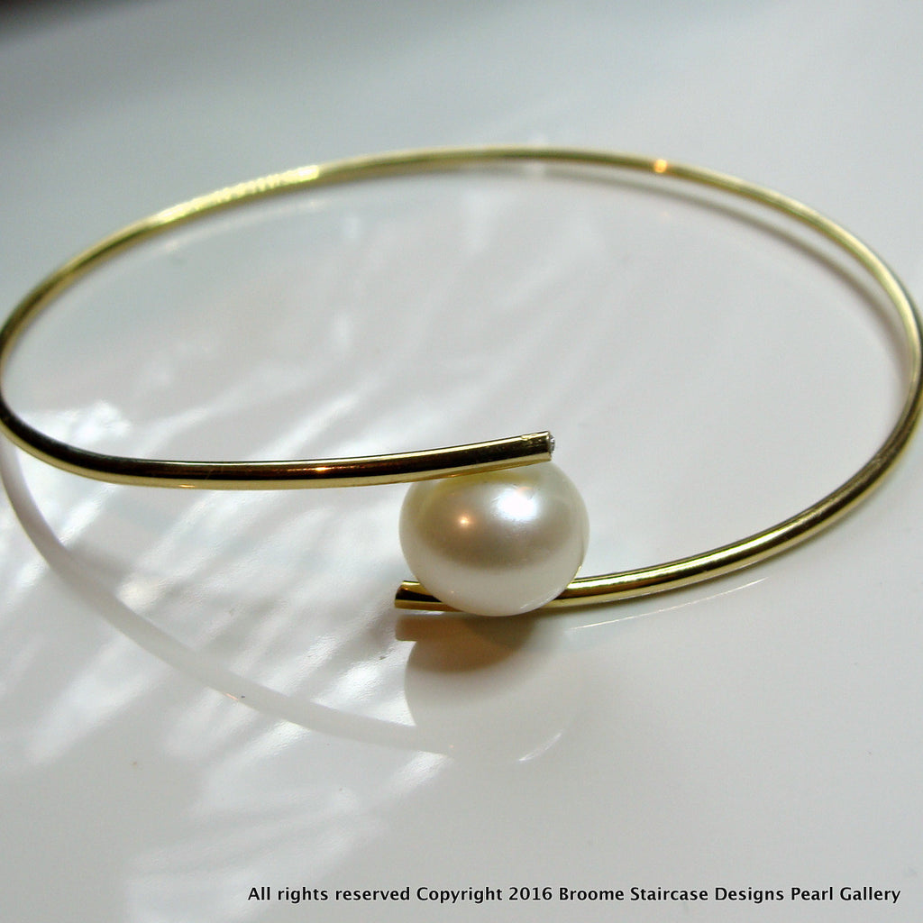Cultured Pearl Bangle - Flexi Bangle - Broome Staircase Designs Pearl Gallery - 1