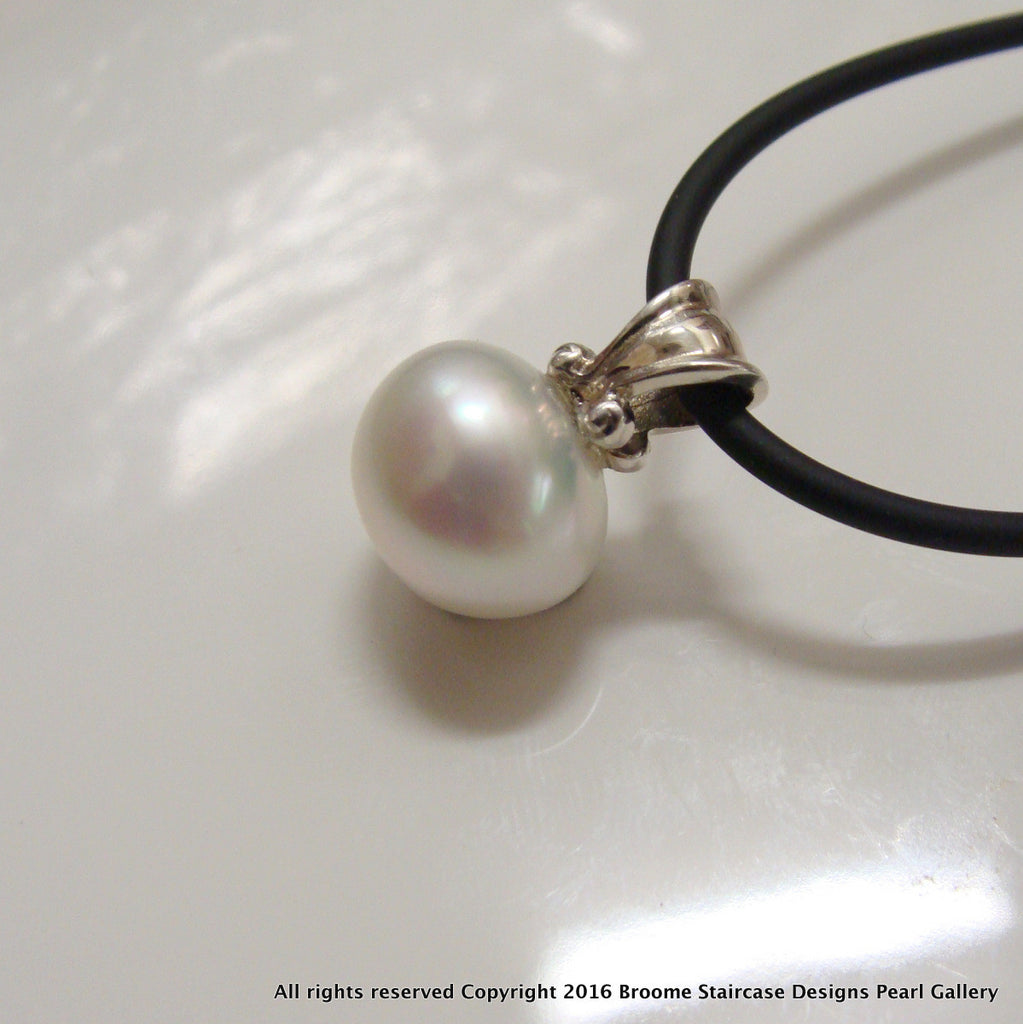 Broome Pearl Pendant Sterling Silver - Broome Staircase Designs Pearl Gallery