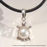 Cultured Pearl Turtle Pendant - Broome Staircase Designs Pearl Gallery