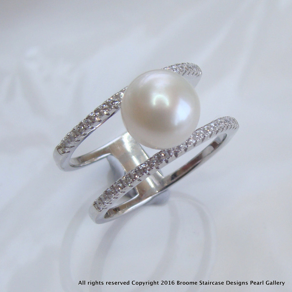 Cultured Pearl Ring ss - Broome Staircase Designs Pearl Gallery - 1