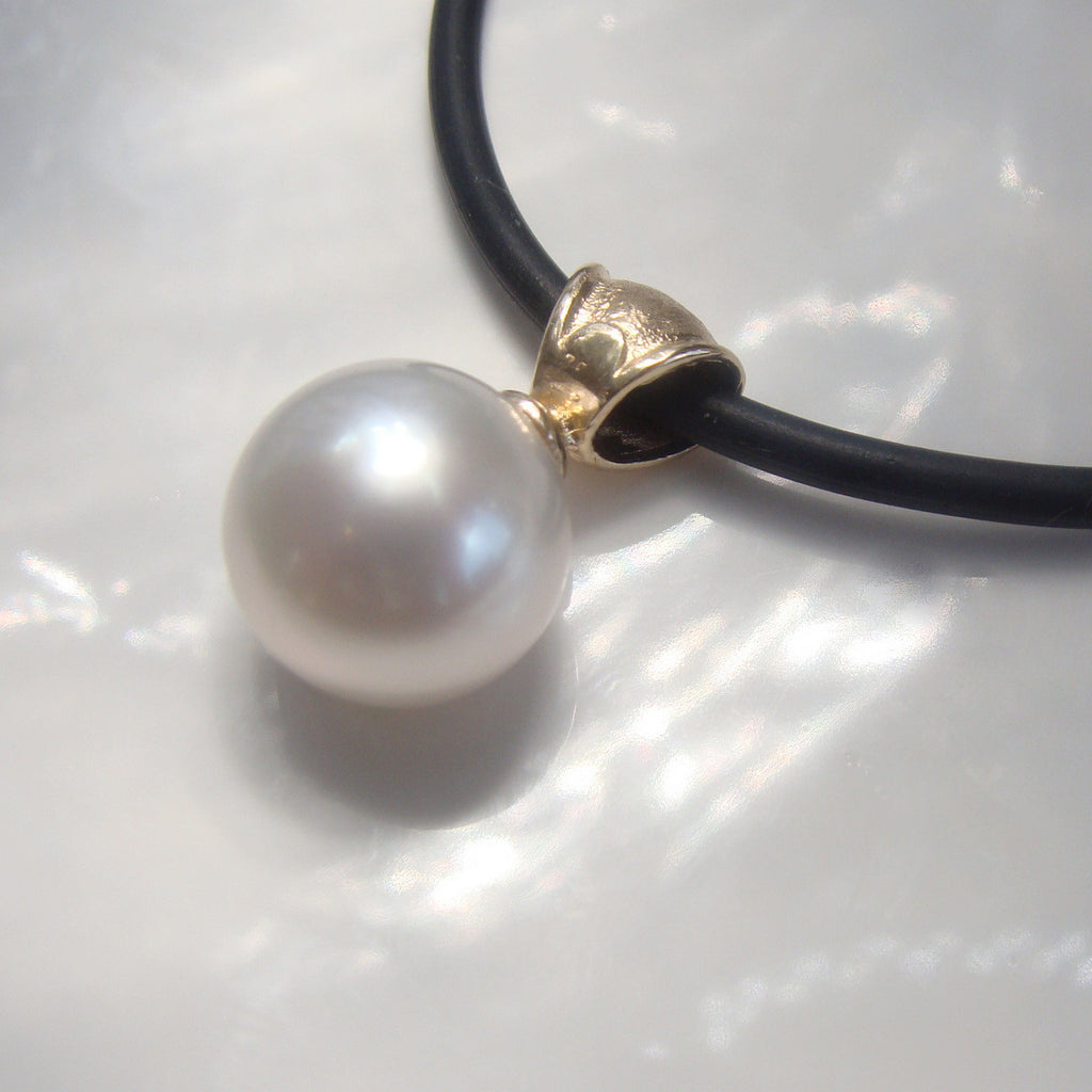 Australian South Sea Broome Pearl Pendant 9ct
