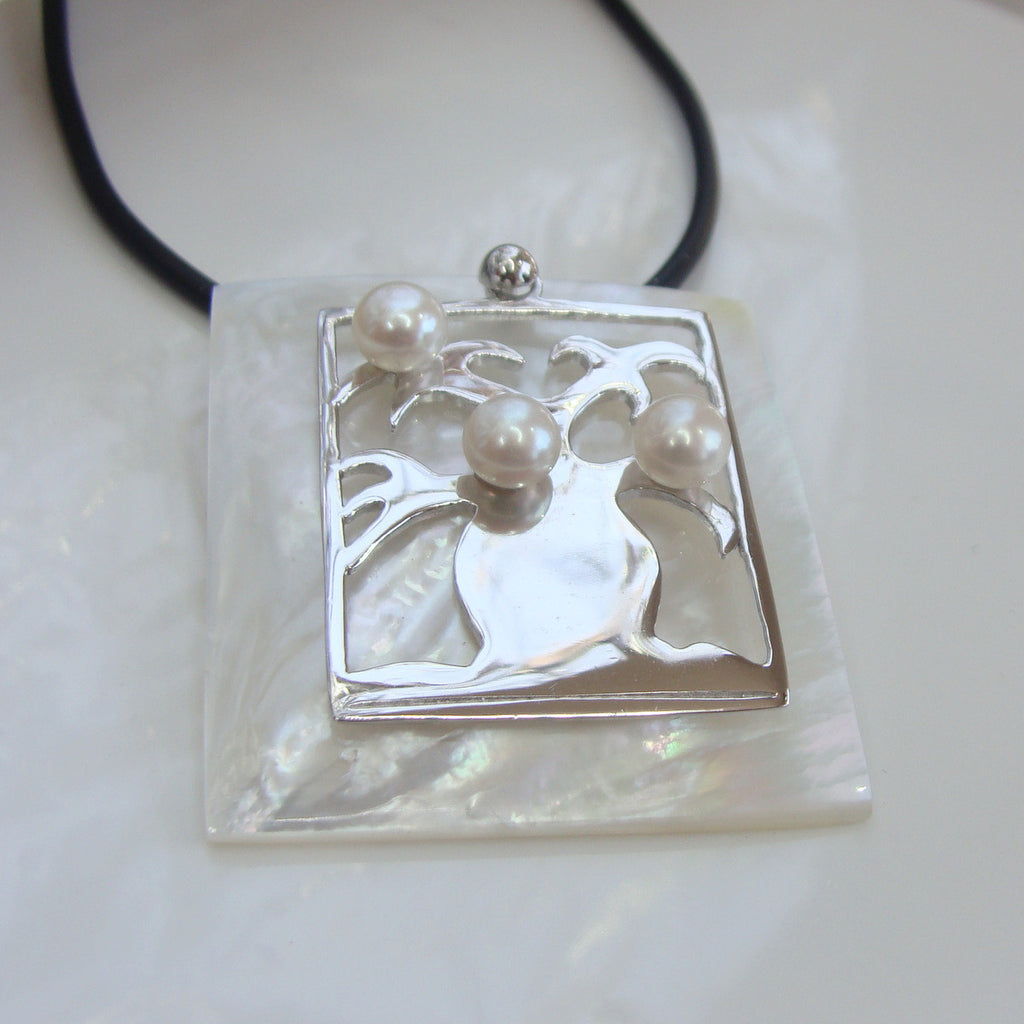 Boab Tree Mother of Pearl Square