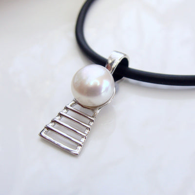 Pearl Pendant James Price Point Staircase Sterling Silver Mini