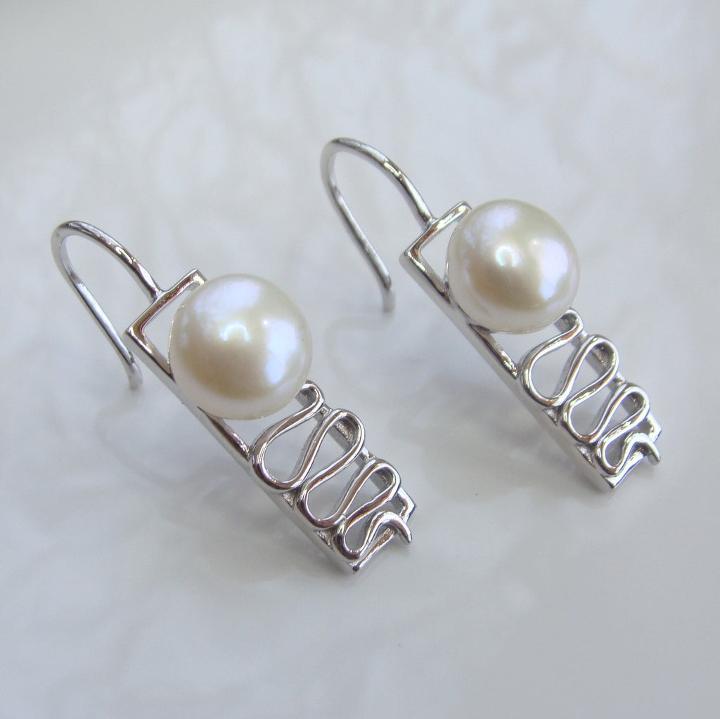 Staircase Freshwater Pearl Earrings Cape Leveque Sterling Silver