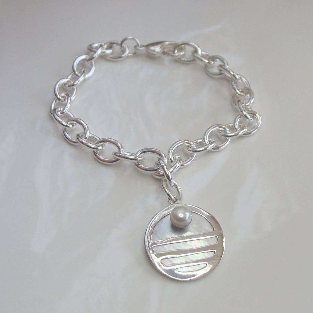 Mother of Pearl Staircase Bracelet