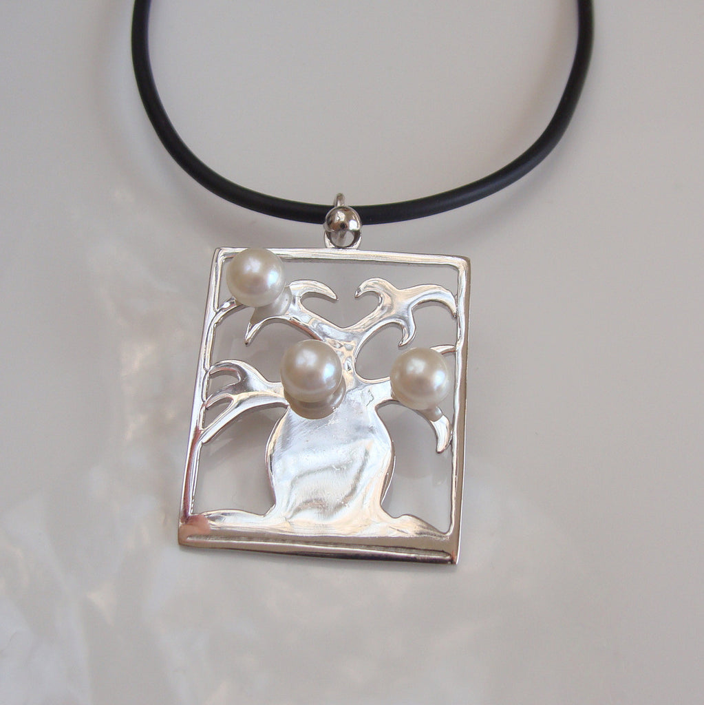 Boab Tree Square sterling silver
