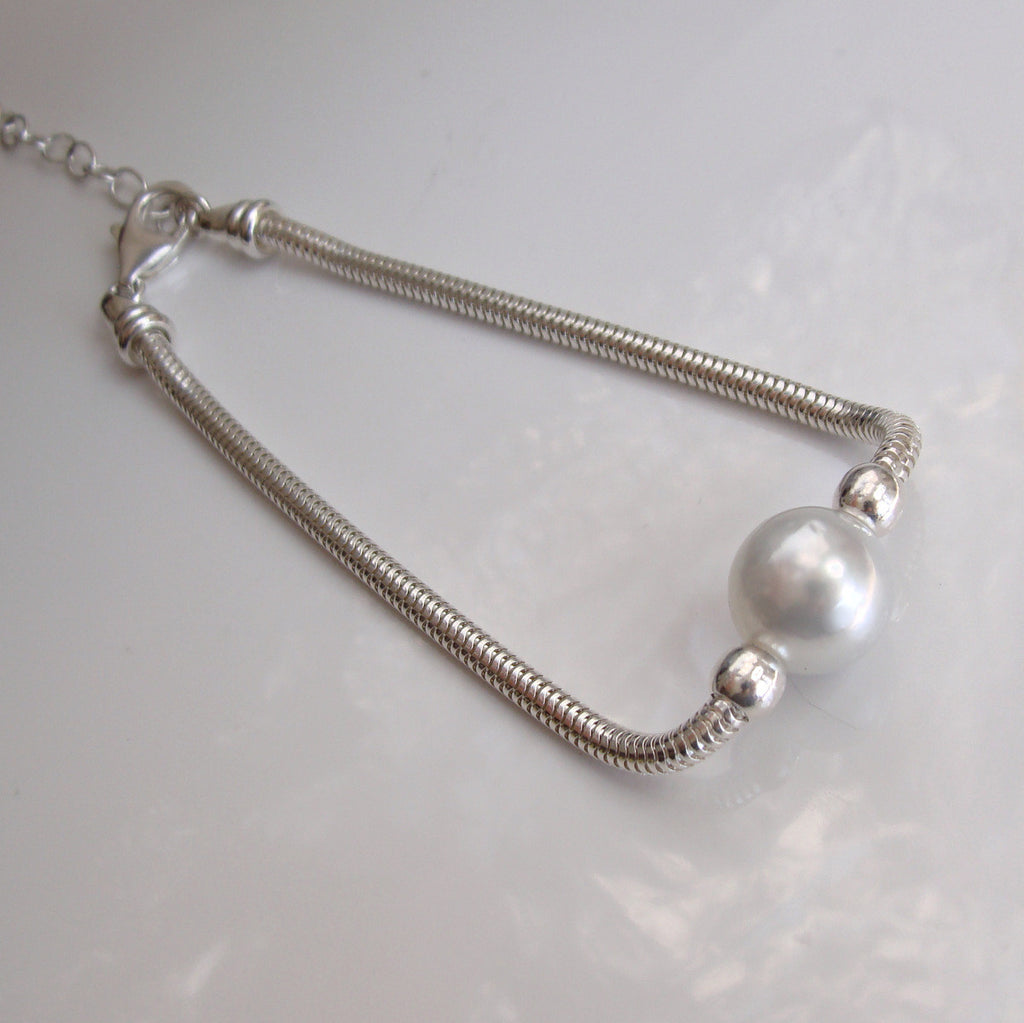 South Sea Pearl Bracelet Sterling Silver