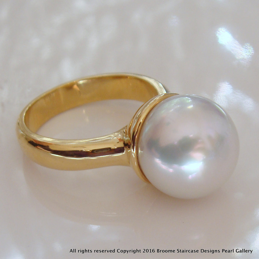 Broome South Sea Pearl Ring 18ct Gold
