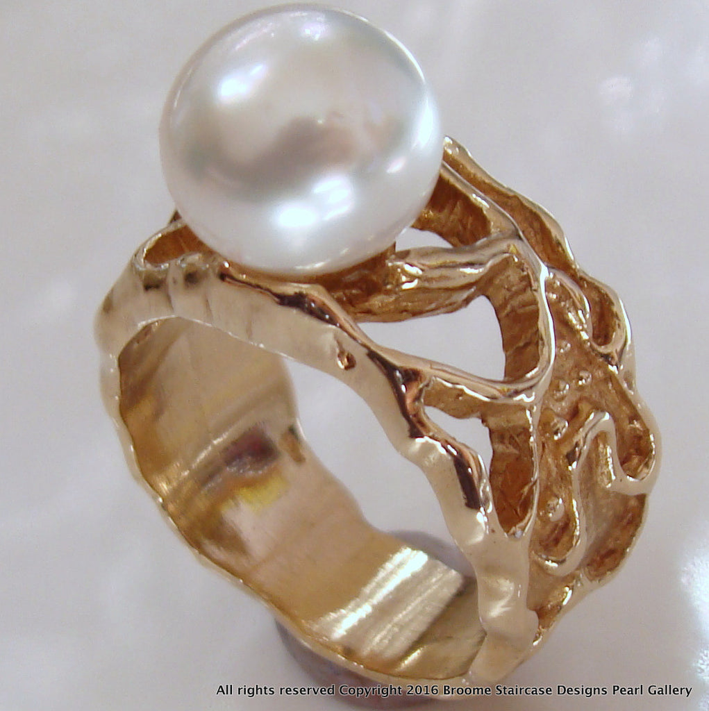 Broome South Sea Pearl Ring 9ct Gold
