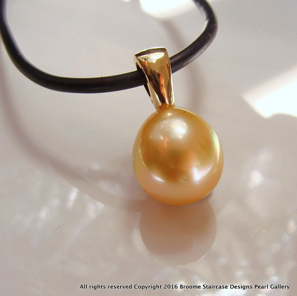 9ct South Sea Golden Pearl Pendant