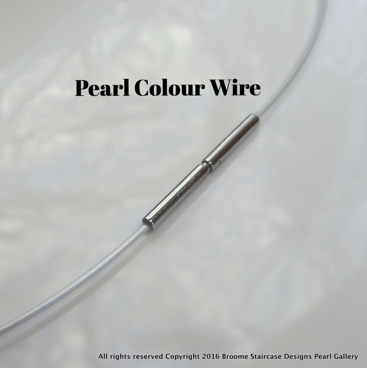 Pearl and Dark Grey Stainless Steel Cable Wire Necklace