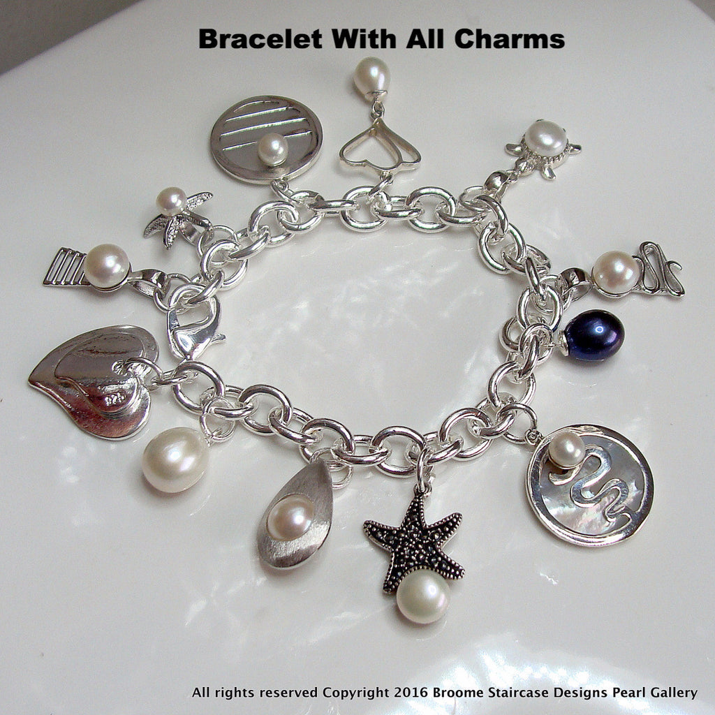 Cultured Pearl Staircase Bracelet