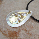 Boab Tree Mother of Pearl Teardrop Gold