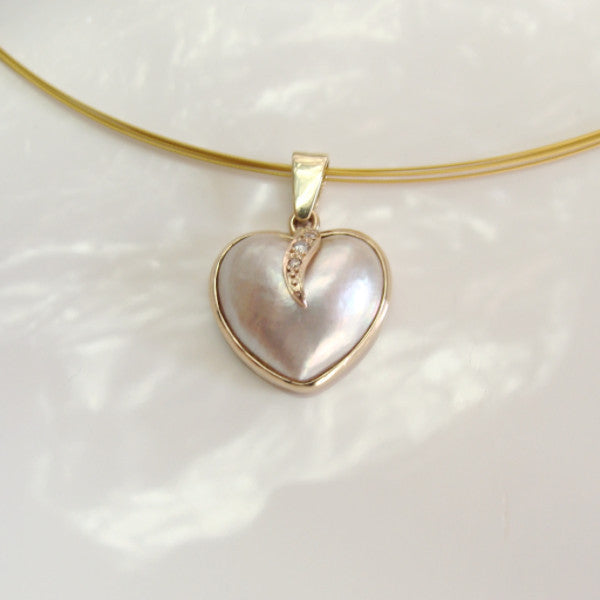 Broome mabe Heart pearl pendant