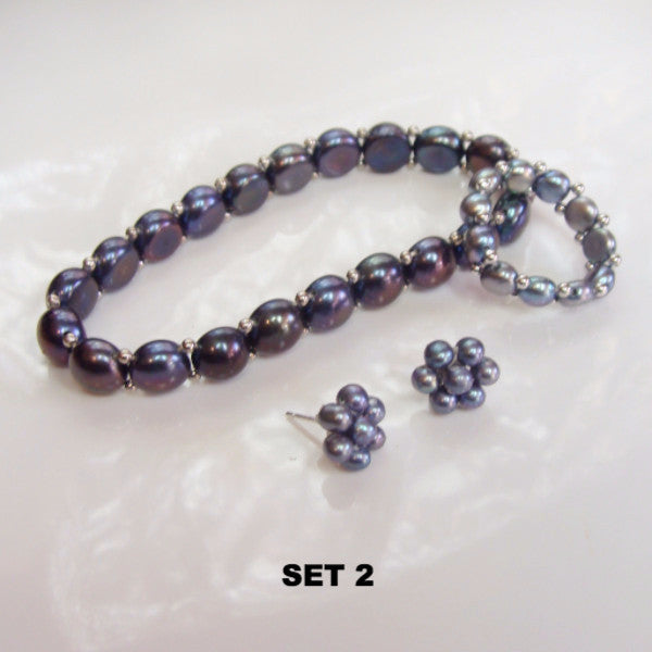 Cultured Freshwater Pearl Stretchy Set