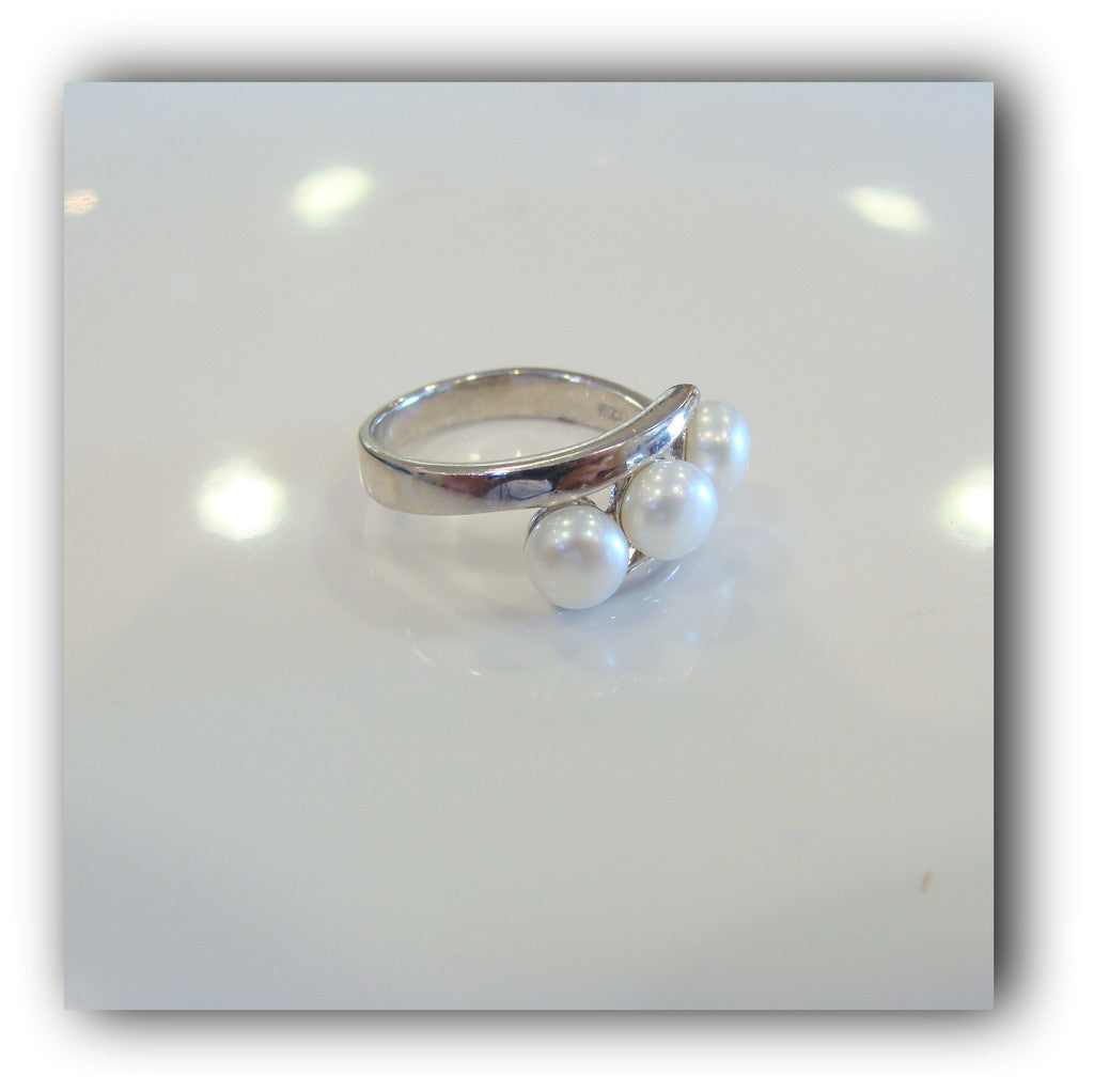 Freshwater Pearl Ring Sterling Silver