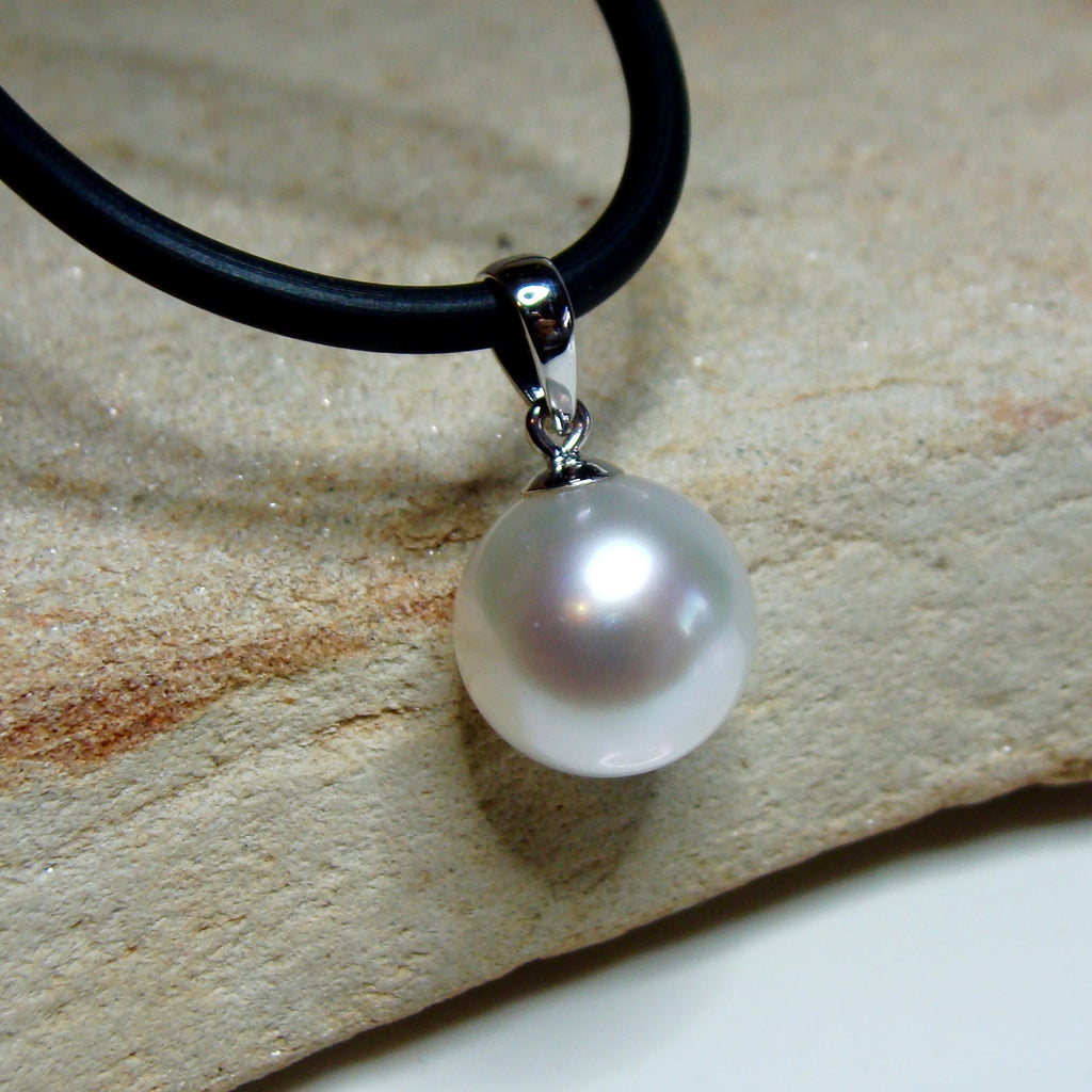 9ct white gold Broome Pearl Pendant