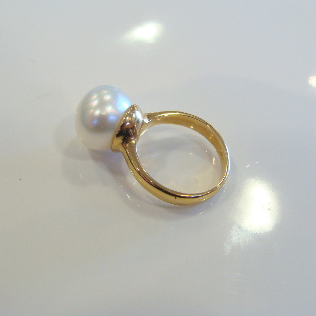 18ct Broome Pearl Ring - Broome Staircase Designs Pearl Gallery - 1