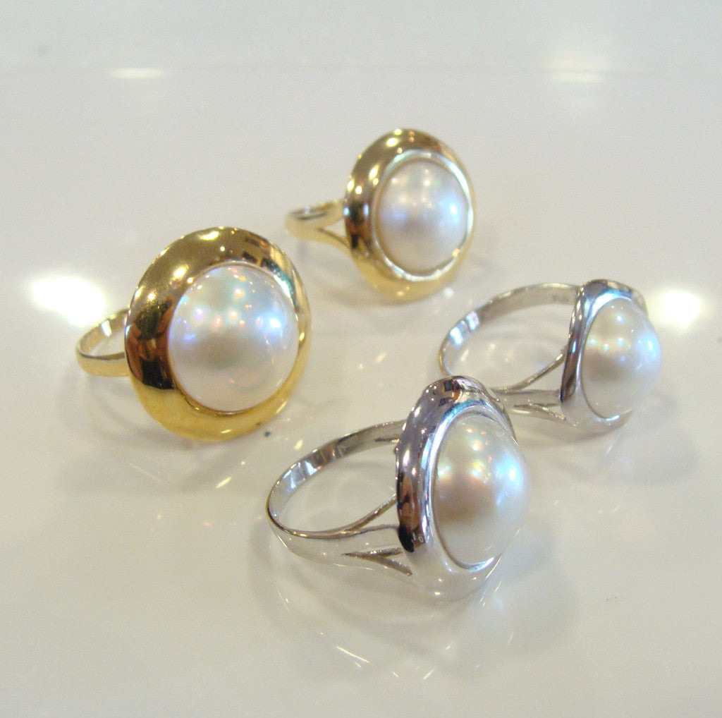 Australian South Sea Mabe Pearl Ring - Broome Staircase Designs Pearl Gallery