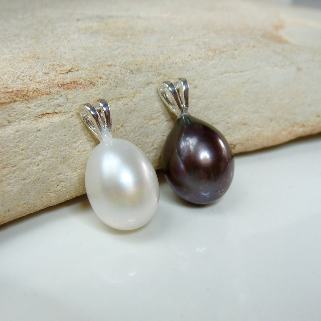 Cultured Freshwater Pearl Pendant Sterling Silver