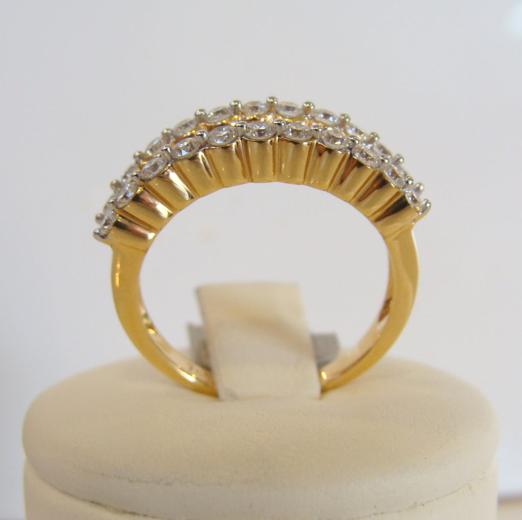 Diamond Engagement Ring 18ct Yellow Gold - Broome Staircase Designs Pearl Gallery - 1
