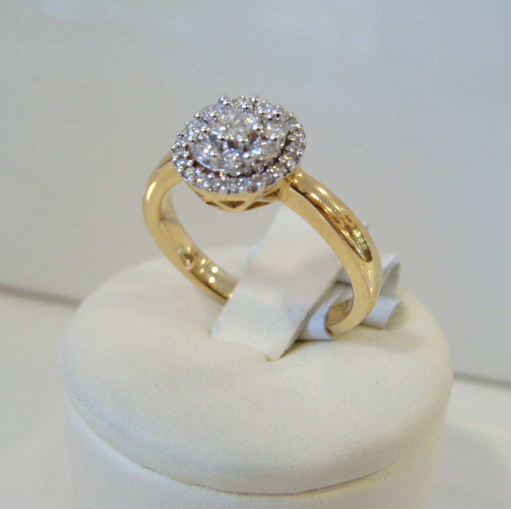 Diamond Engagement Ring 18ct Yellow Gold - Broome Staircase Designs Pearl Gallery