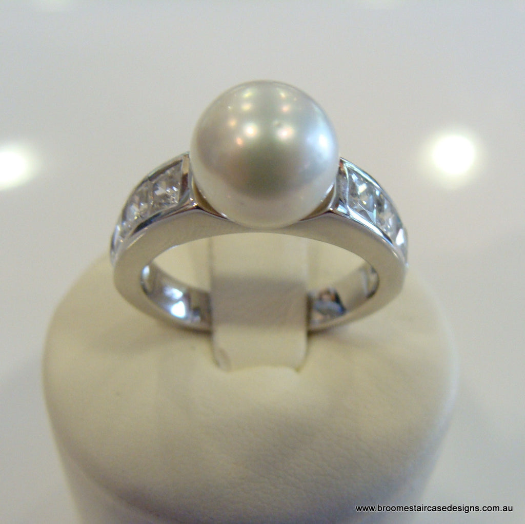 South Sea Pearl Ring 925 - Broome Staircase Designs Pearl Gallery - 1