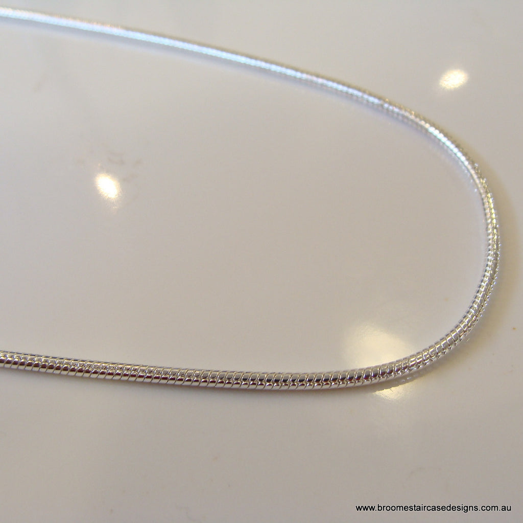 Sterling Silver Snake Chain 925 - Broome Staircase Designs Pearl Gallery - 1