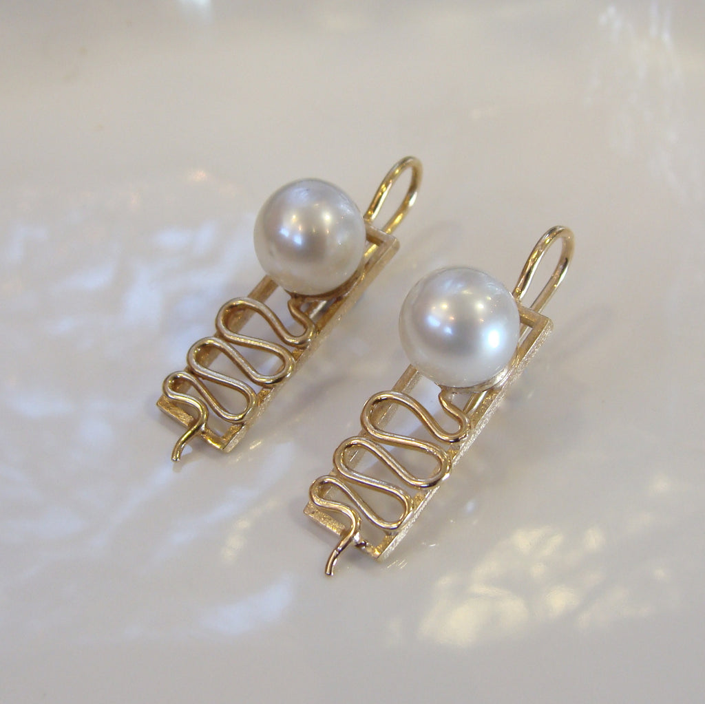 Australian South Sea Pearl Staircase Earrings 9cty - Broome Staircase Designs Pearl Gallery - 1